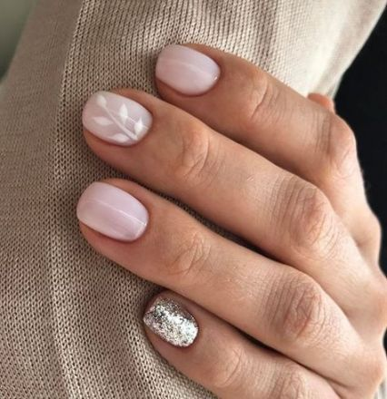 New Nails Neutral Glitter Art Ideas 40+ Ideas | Simple nails .