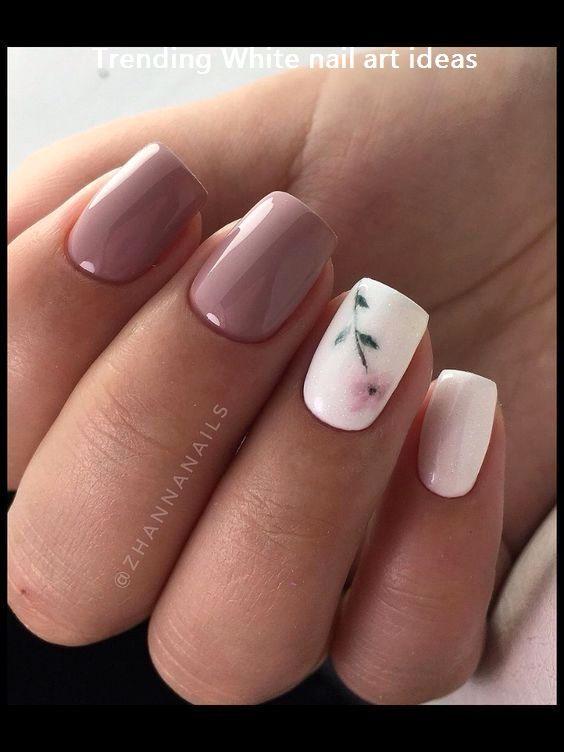 30+ Simple & Trending White Nail Design Ideas #nails | Short nail .
