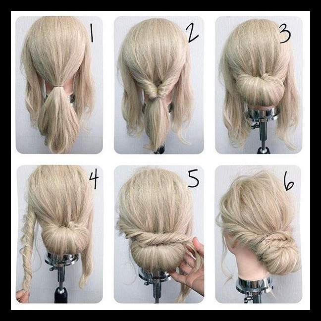 Best 25+ Simple updo ideas on Pinterest | Simple hair updos .