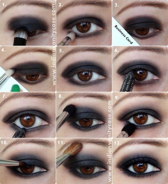 Indian Vanity Case: Black Smokey Eyes Tutorial | Smokey eye makeup .