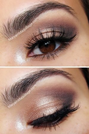 Natural but smokey eye - great for brown eyed girls by .