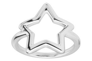Stardust' Open Star-Shaped Ring in Sterling Silver   Sterling .