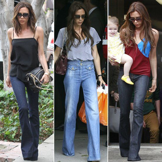 Behold Victoria Beckham's Best Wide-Leg Denim Moments | Stylish .