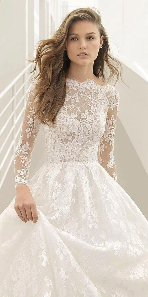 42 Charming Long Sleeve Wedding Dresses In Different Styles | 2018 .