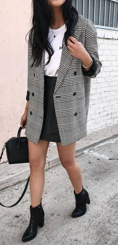 50 Best Plaid Blazer & Coat Outfit Ideas images in 2020 | plaid .