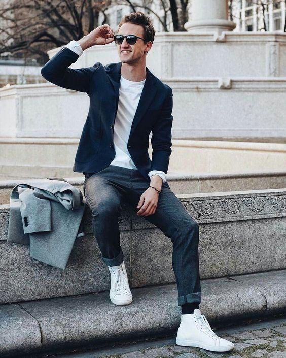 11 Cool Jeans & Blazer Outfit Ideas For Men | Mens fashion blazer .