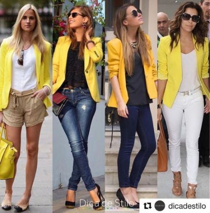 50 ideas for how to wear yellow blazer | Yellow jacket outfit .