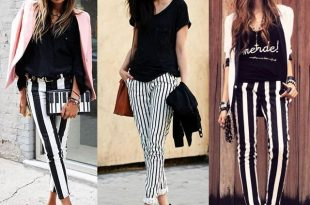 What to wear with black and white striped pants? Outfits and tips .