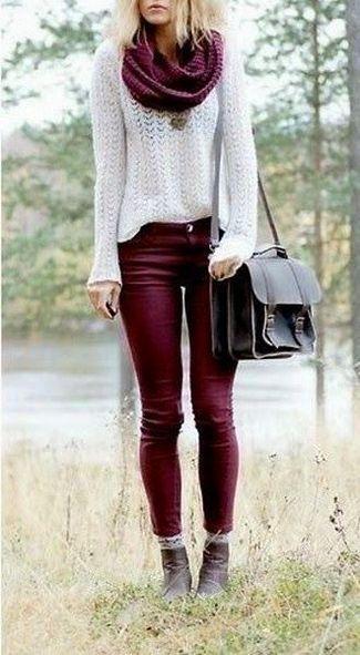 25 Stylish Scarf Outfit Ideas (com imagens) | Roupas chique .