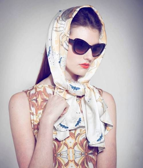Head scarf: the classic scarf outfit idea Similar scarves .