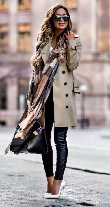 Pretty Winter Work Outfits for Women 21 | Stylish winter outfits .