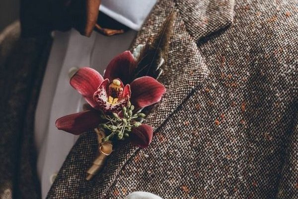 30 Fall Winter Groom Attires and Wedding Boutonnieres – Hi Miss Pu