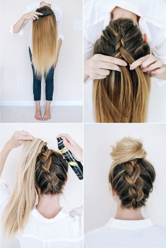 10 Super-easy Trendy hairstyles for school - New Medium Hairstyles .