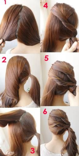 Quick ponytail tutorial-super easy-hair diy-step by step | Easy .