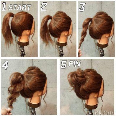 21 Super Easy Updos for Beginners | Saç, Günlük saç modelleri, Saç .