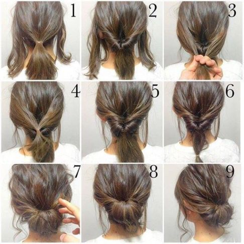 21 Super Easy Updos for Beginners | Hair styles, Work hairstyles .
