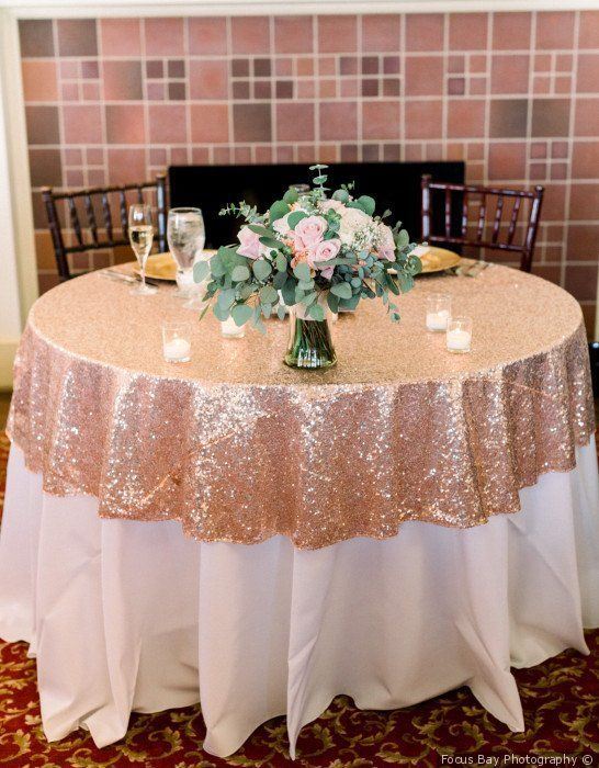 Reception Decor Idea | Rose gold wedding decor, Sweetheart table .