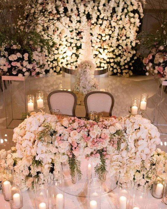 Top 20 Luxury Sweetheart Table Decor Ideas | Wedding table .