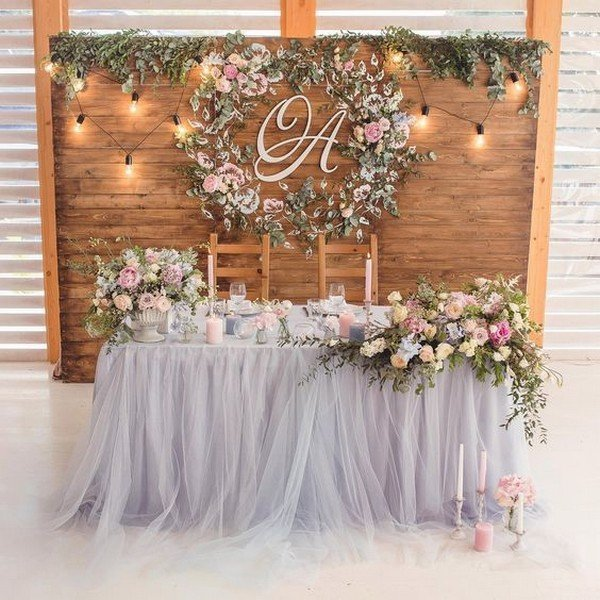 wedding sweetheart table decoration ideas - Oh Best Day Ev