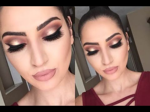 Holiday Look: Thanksgiving Makeup Tutorial | Cranberry & Gold .