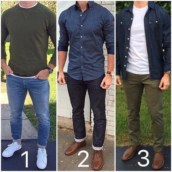 Simple Everyday Outfit Ideas For Men | Lässige mode für männer, Mo