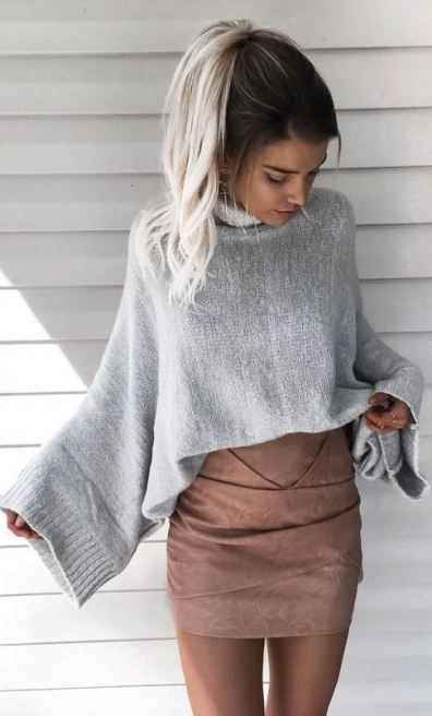 15 Cute Crop Top Sweater Outfits To Wear This Winter - Society19 .