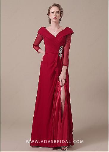 dressilyme.com provides top quality Stunning Chiffon V-neck .