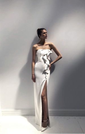 DAISY wedding gown by #livnewhite - A modern, silk sweetheart .