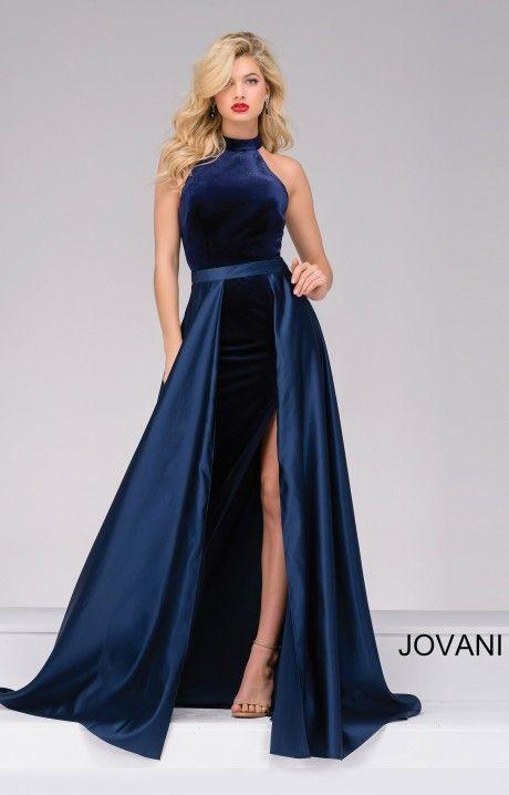 Jovani 45182 | Prom dresses jovani, Jovani dresses, Navy velvet dre