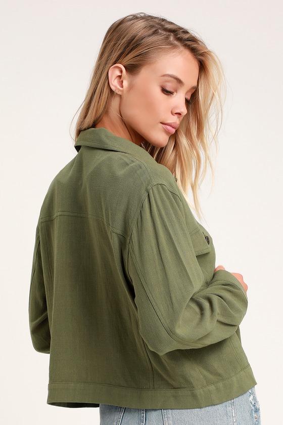 Kimber Olive Green Lightweight Jacket | Lightweight jacket, Womens .