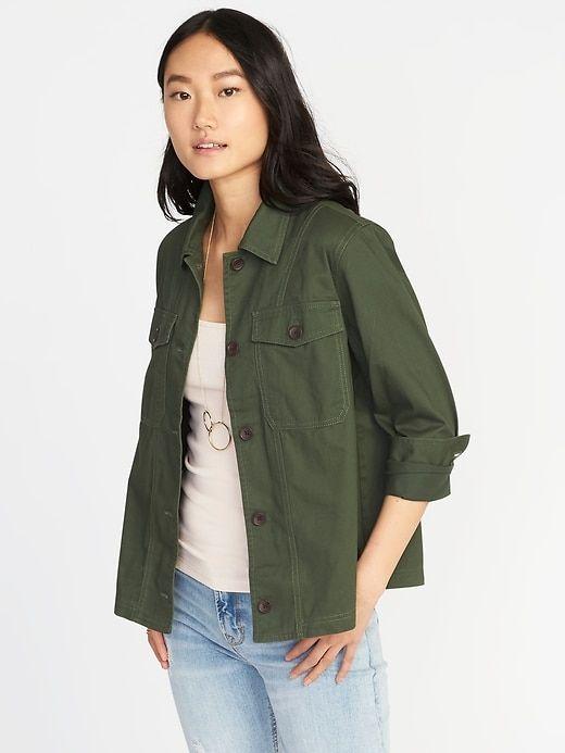 Twill Utility Swing Jacket for Women | Swing jacket, Women .