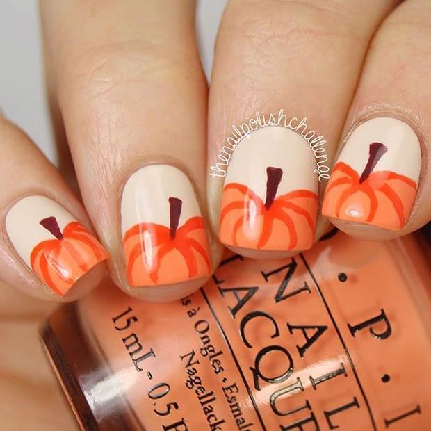 15 Amazing Thanksgiving Nail Art Ide