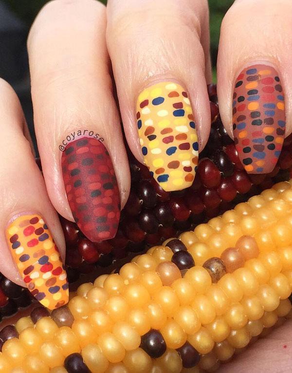 40 Popular Thanksgiving Nail Art Ideas – Page 27 – Foliver bl