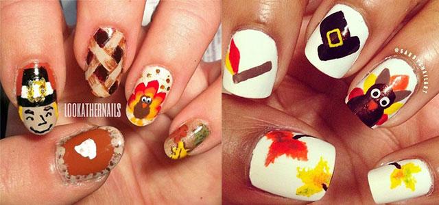 12 + Easy & Cute Thanksgiving Nail Art Designs, Ideas, Trends .