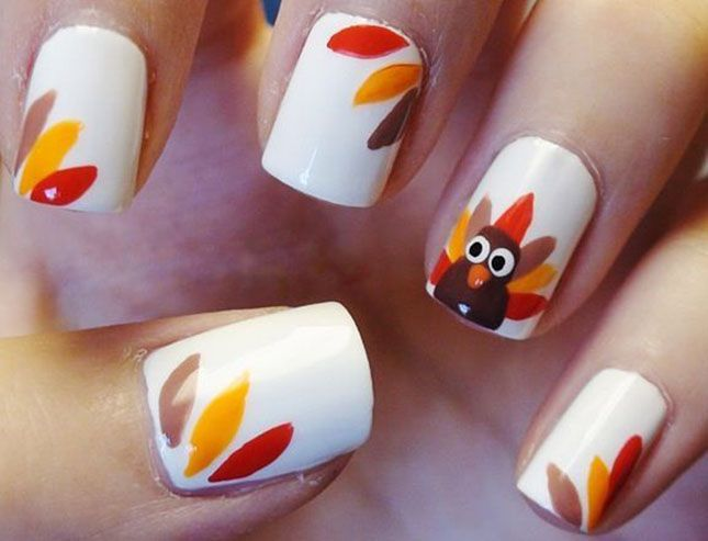 12 DIY Nail Art Ideas For Thanksgiving and Fall | Thanksgiving .