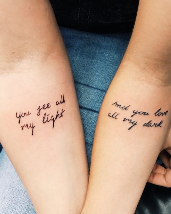 54 Cool Sister Tattoo Ideas To Show Your Bond - Page 21 of 54 .