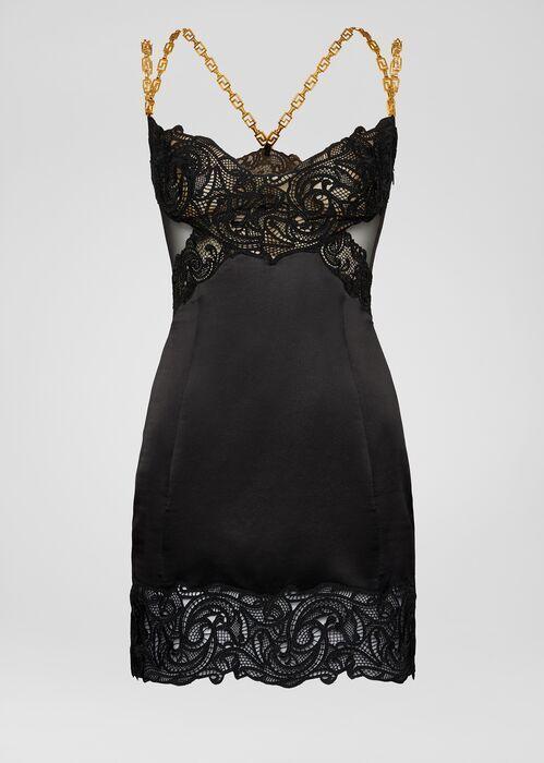 Greca Hardware Dress - black Dresses in 2020 | Versace dress .