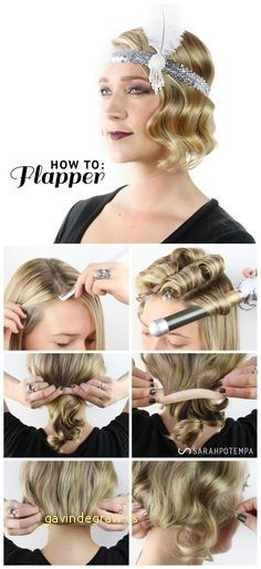 Best Of 1920s Hairstyles for Long Hair Tutorial | Gatsby .