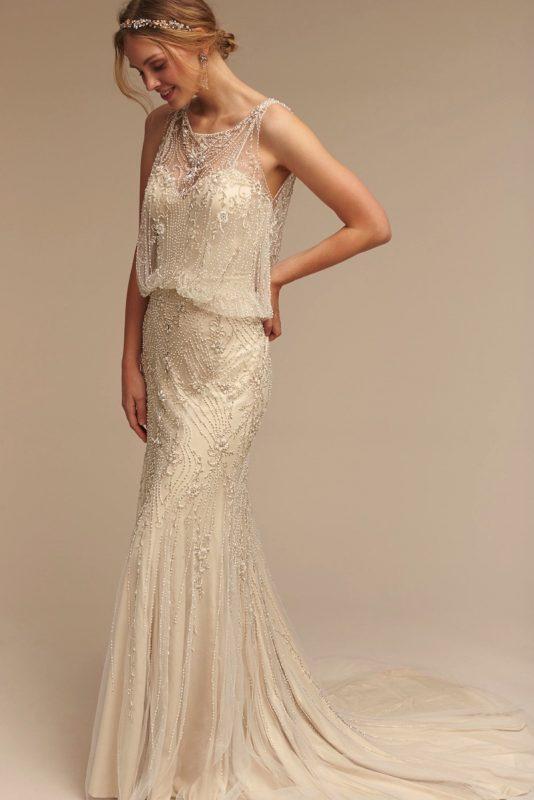 Vintage Style Wedding Dresses   BHLDN   Deco Weddin
