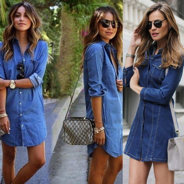 What are the different and the best ways to wear a denim dress .