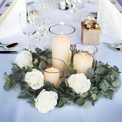 Amazon.com: Blissful Moment Eucalyptus Garland Wedding Décor .