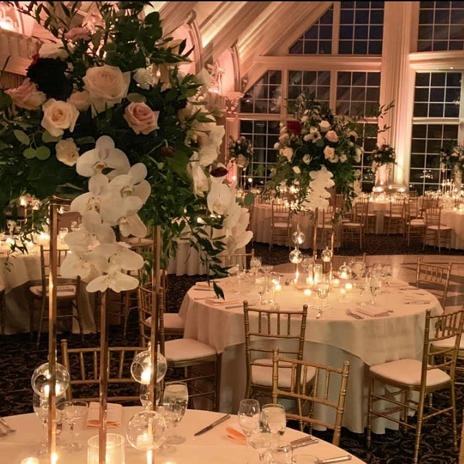 Tall Ballroom Wedding Centerpieces. by Beethoven's Veran