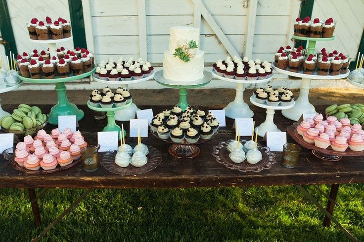 Weddings- In the Now | Weddings & Events | Wedding cupcake table .