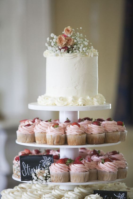 15 Awesome Delicious Weddings Cupcake Inspiration Tiers | Spring .