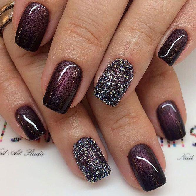 77 Wonderful Winter Nail Art Ideas | Simple fall nails, Popular .
